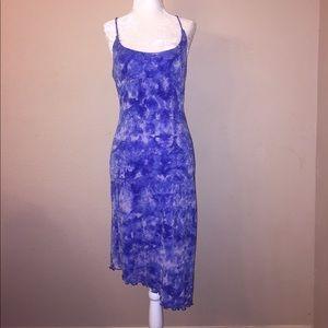Guess Blue sparkles Mídi Dress